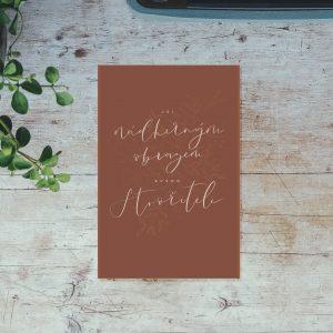 Křesťanské povzbudivé přání - Jsi nádherným obrazem