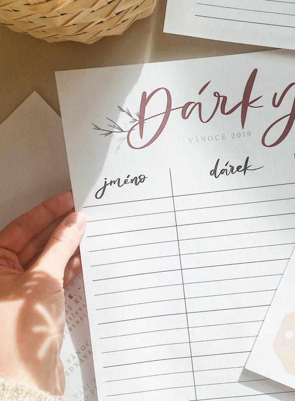 VYTISKNI SI: seznam vánočních dárků & plánování